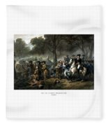 Life Of George Washington - The Soldier Fleece Blanket