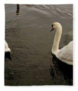 Life Of Swans. Fleece Blanket
