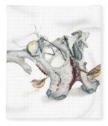 Life With Carolina Wrens Fleece Blanket