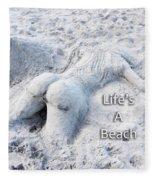 Life's A Beach By Sharon Cummings Fleece Blanket