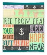Lift Your Anchor Fleece Blanket