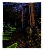 Lighit Painted Forest Scene Fleece Blanket