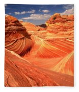 Light And Dark At The Wave Fleece Blanket