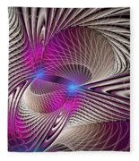 Light And Lines Fleece Blanket