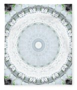 Light Blue Mandala- Art By Linda Woods Fleece Blanket