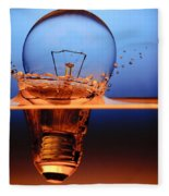 Light Bulb And Splash Water Fleece Blanket