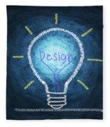 Light Bulb Design Fleece Blanket