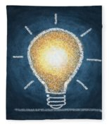 Light Bulb Design Fleece Blanket