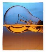 Light Bulb In Water Fleece Blanket