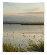 Light Falling Softly On The Marsh Fleece Blanket