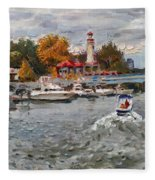 Light House Mississauga Fleece Blanket