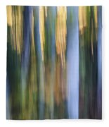 Light In Evening Forest Fleece Blanket