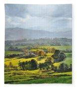 Light In The Valley At Rhug. Fleece Blanket