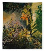 Light In The Wood  Fleece Blanket
