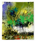 Light In Trees Fleece Blanket