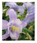 Light Lavender Flowers Fleece Blanket