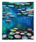 Light Of The Lillies Fleece Blanket