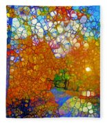 Light On The Autumn Path Fleece Blanket