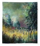Light On Trees Fleece Blanket