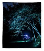 Light Painted Arched Tree  Fleece Blanket