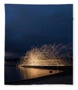 Light Painting Fleece Blanket