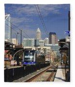 Light Rail In Charlotte Fleece Blanket