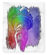 Light The Path Cool Rainbow 3 Dimensional Fleece Blanket