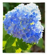 Light Through Blue Hydrangeas Fleece Blanket
