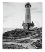 Light Tower Of The Pacific Fleece Blanket