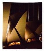 Light Up Sail Of Opera House  Fleece Blanket