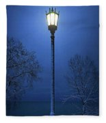 Light Winter Blue Fleece Blanket