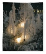 Lighted Fountain Fleece Blanket