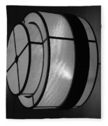 Lighted Wall In Black And White Fleece Blanket