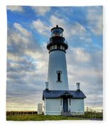 Lighthouse And Clouds Fleece Blanket