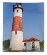 Lighthouse And Entry Fleece Blanket