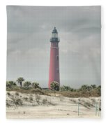 Lighthouse At Ponce Inlet Fleece Blanket
