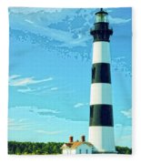 Lighthouse Bodie Island Fleece Blanket