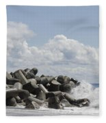Lighthouse By The Bay Fleece Blanket