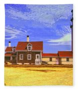 Lighthouse Cape Cod Fleece Blanket
