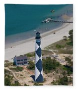 Lighthouse From Above Fleece Blanket