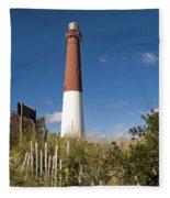 Lighthouse From Dunes Fleece Blanket
