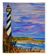 Lighthouse- Impressionism- The Coast Fleece Blanket