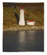 Lighthouse In Maine Fleece Blanket