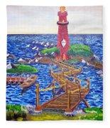 Lighthouse Island Fleece Blanket