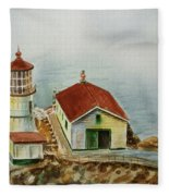 Lighthouse Point Reyes California Fleece Blanket