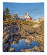 Lighthouse Reflection Fleece Blanket