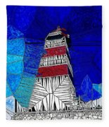 Lighthouse Stained Glass  Fleece Blanket