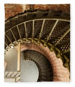 Lighthouse Stairs Cape Blanco Oregon 2 Fleece Blanket