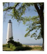 Lighthouse Summer Fleece Blanket