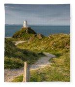 Lighthouse Twr Mawr Fleece Blanket